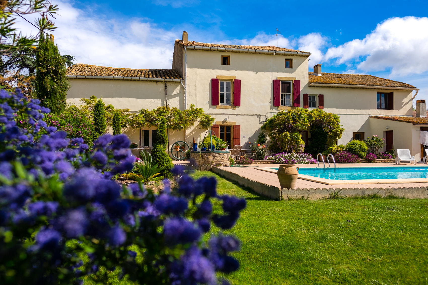 Le Fitou - 3 bedroom Gite with garden and pool near Canal du Midi in Languedoc